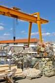 Rock crane industry — Stock Photo