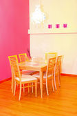 Pink dinning — Stock Photo