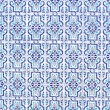 Blue tiles - Stock Photo