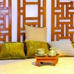 Oriental bed — Stock Photo