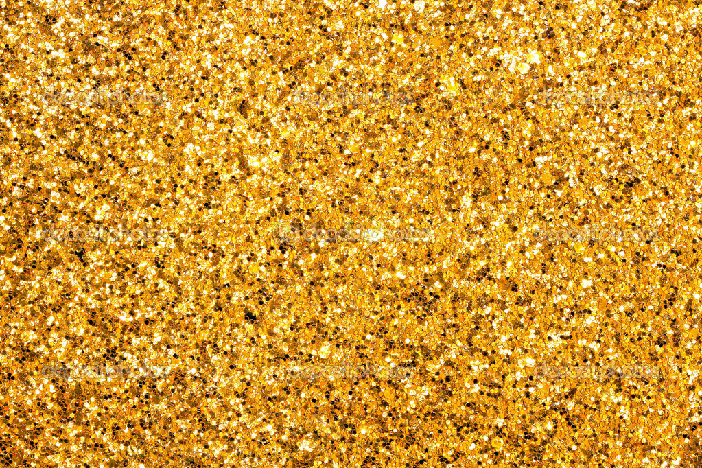 Detailed texture of glittering golden dust surface  Stock Photo #3540675