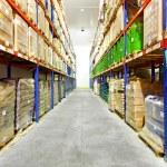 Warehouse row — Stock Photo