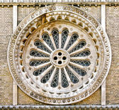 Church round window — Stock Photo