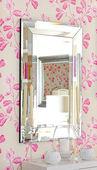 Floral mirror — Stock Photo