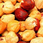 Hazelnuts pattern — Stock Photo