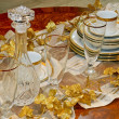 Crockery and glass — Stock Photo