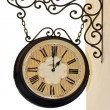 Hanging clock — Stock Photo
