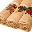 Christmas towels — Stock Photo