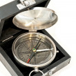 Compass in box — Stock Photo