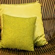 Stock Photo: Green pillows