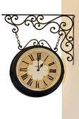 Hanging clock — Stock Photo