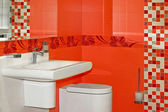 Wc rosso — Foto Stock