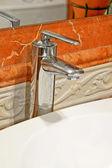 Terracotta faucet — Stock Photo