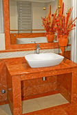 Terracotta lavabo — Stock Photo