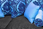 Blue pillows — Stock Photo