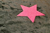 Pink star — Stock Photo