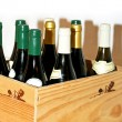 Box of wine - Stock Photo