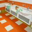 Orange faucets — Foto Stock