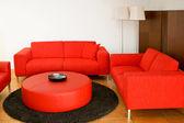 Red sofas — Stock Photo