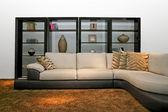 Shelf and sofa — Stock Photo