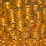 Coins columns — Stock Photo