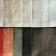 Linen sampler — Stock Photo