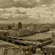 London panoramic sepia — Stock Photo
