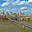 Millennium bridge panorama — Stock Photo