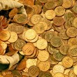 Scattered coins — Stock Photo