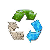 Recycling circle — Stock Photo