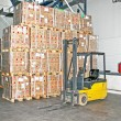 Forklifter cargo - Stock Photo