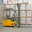 Stock Photo: Forklifter industry