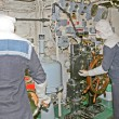 Inside submarine - Foto Stock