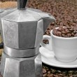 Italian coffee pot — Stock Photo
