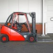 Red forklifter — Stock Photo