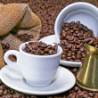 Turkish coffee pot - Stock Photo