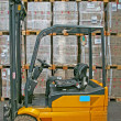 Stock Photo: Yellow forklifter