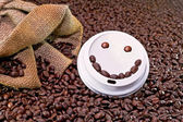 Smiley koffie — Stockfoto