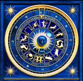 Sternzeichen blau — Stockfoto