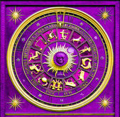 Zodiac Purple — Stock Photo