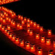 Candles diagonal — Stock Photo