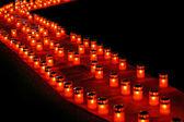Svíčky úhlopříčka — Stock fotografie