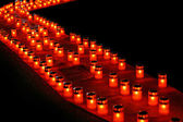 Diagonale de bougies — Photo