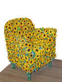 Sunflower chair — Stock Photo