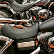 Stock Photo: Chopper motorcycles