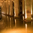Columns in cistern — Stock Photo