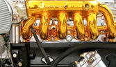 Golden engine — Stock Photo