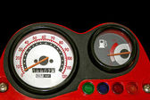 Red speedometer — Stock Photo