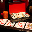 Cards and dominoes — Foto Stock