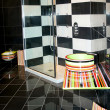 Geometric bathroom — Stock Photo